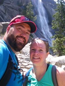 At Nevada Falls in Yosemite NP
